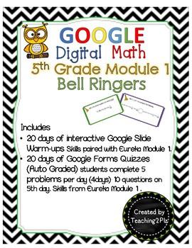 5th Google Digital Math Bell Ringers Module 1
