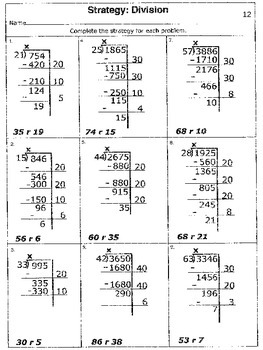 5th Gr. (5.3C) Long Division:  3 and 4-Digit Numbers Divided by 2-Digit