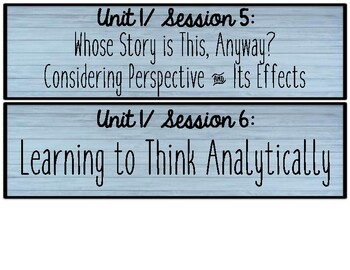 5th Gr. Lucy Calkins RUOS Session Cards {Units 1-4} Farmhouse