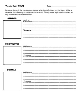 5th Gr. Reading Street Vocabulary Packets - Unit 1 - interactive notebooks