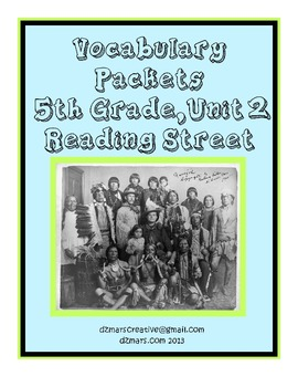5th Gr. Reading Street Vocabulary Packets - Unit 2 - interactive notebooks