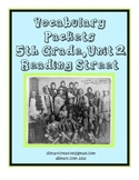 5th Gr. Reading Street Vocabulary Packets - Unit 2 - inter