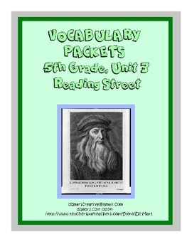 5th Gr. Reading Street Vocabulary Packets - Unit 3 - interactive notebooks