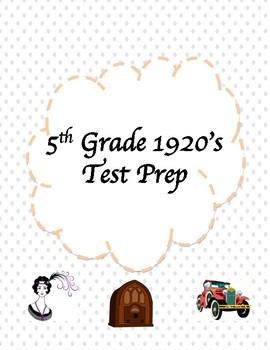5th Grade 1920's Test Prep
