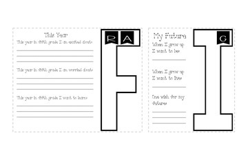5th Grade 1st Day Flap Book