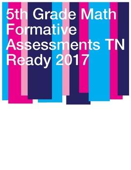 5th Grade- Test Prep TNReady 22 Math Quizzes of Tennessee Standards/Common Core