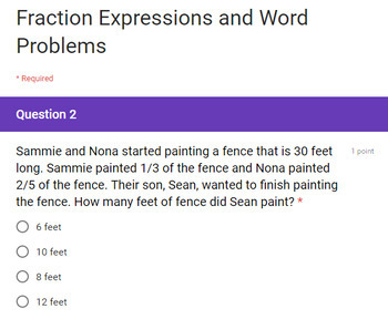 5th Grade 3 Fraction Multiplication Quick Checks Google Forms Assessments