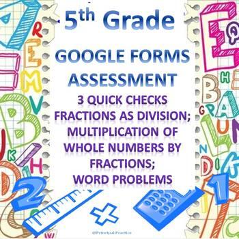 5th Grade 3 Fraction Multiplication Quick Checks Google Fo