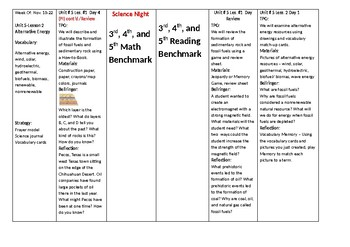 3rd 6 Weeks Lesson Plans---Editable