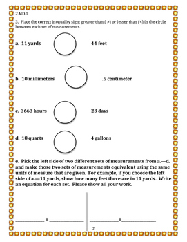 5th Grade 3rd Quarter Common Core Math Assessment [ANSWER KEY INCLUDED]