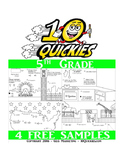5th Grade - 4 FREE Math Review Worksheets