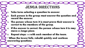 5th Grade 5.MD and 5.G Standards Review Jenga