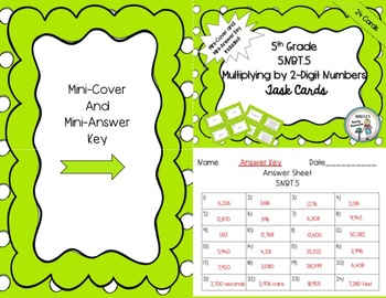 5th Grade 5.NBT.5 Multiplying by 2-Digit Numbers Task Cards