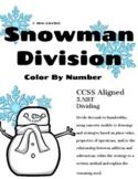 5th Grade 5.NBT Long Division- Snowman Color By Number