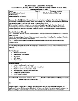 5th Grade 5E-Lesson Unit Weather and Measurement