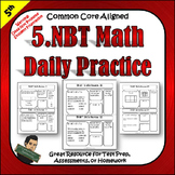 5.NBT 5th Grade Math Morning Work, Homework, Class Work, and Tests