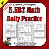 5.NBT 5th Grade Math Morning Work, Homework, Class Work, a