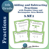 5.NF.1 Task Cards Adding and Subtracting Fractions Number