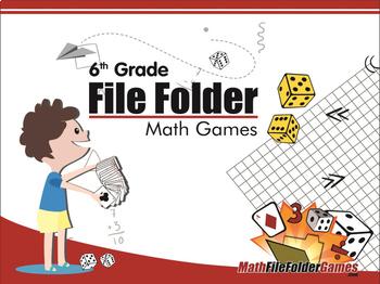 5th Grade + 6th Grade File Folder Math Games Books