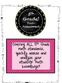 5th Grade ALL MATH STANDARDS Pre/Post Assessment BUNDLE!