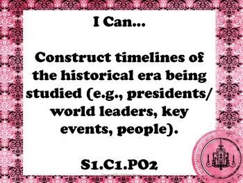 5th Grade AZ Social Studies Standards Cards