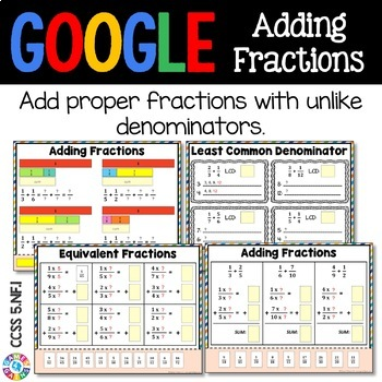 5th Grade Add Fractions with Unlike Denominators {5.NF.1} - Google Classroom