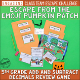 Halloween Math Escape Room | 5th Grade Review