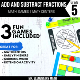 5th Grade Adding and Subtracting Fractions with Unlike Den