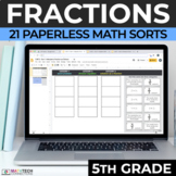 5th Grade Adding & Subtracting Fractions, Multiply & Divide Fractions Math Sorts