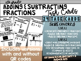 5th Grade Adding & Subtracting Fractions: QR Code Task Cards
