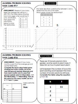5th Grade Algebra, 30 No-Prep Enrichment Projects and Test-Prep Problems