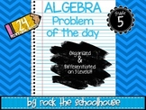 Algebra Task Cards - Math Problem of the Day ( 5th grade word problems )