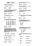 5th Grade Algebraic Expressions Equations Inequalities Ord