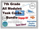 7th Grade All Engage NY/Eureka Module Task Cards Bundle - Editable-SBAC