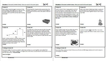 Daily Problem Solving for 5th Grade: April Word Problems (Multi-step)