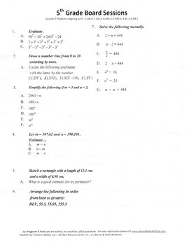 5th Grade Arithmetic,Mathematics,Geometry,activities,Combo Package 1