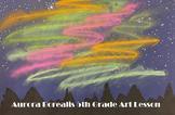 5th Grade Art Aurora Borealis