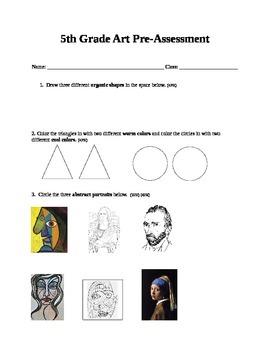 5th Grade Art SLO Assessment