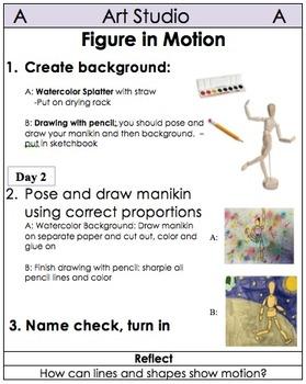 5th Grade Art Table Centers by Medium