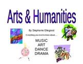 5th Grade Arts & Humanities Book (music, art, dance, drama)
