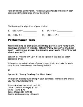 5th Grade Assessment Number Sense Base Ten - Green Circle