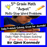 Daily Problem Solving for 5th Grade: August Word Problems (Multi-step)