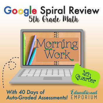 5th Grade Math Assessments - Google Spiral Review: Q4