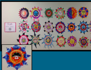 5th Grade Aztec Sun Art Project