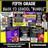 """5th Grade """"Back To School"""" Bundle!"""