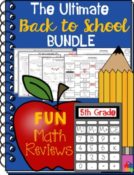 5th Grade Back to School BUNDLE