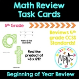 5th Grade Back to School, Beginning of Year Math Activity