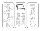 5th Grade Back-to-School Bookmarks