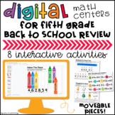 5th Grade Back to School Digital Math Centers Google Slides™