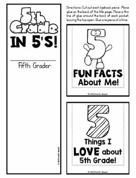 5th Grade Back to School Lapbook